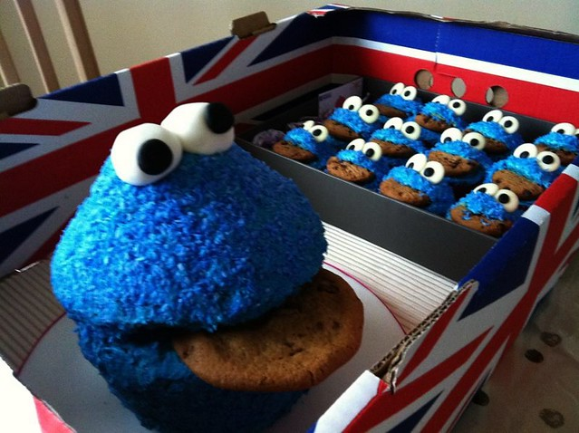 Giant Cookie Monster Cake & babies! | Flickr - Photo Sharing!