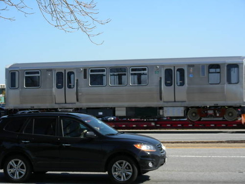 A new CTA car in transit.  Matteson Illinois USA.  Wednsday, October 5th, 2011. by Eddie from Chicago