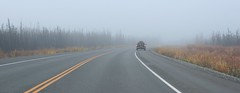 asphalt, fog, highway, road trip, road, lane, controlled-access highway, shoulder, morning, road surface, infrastructure,
