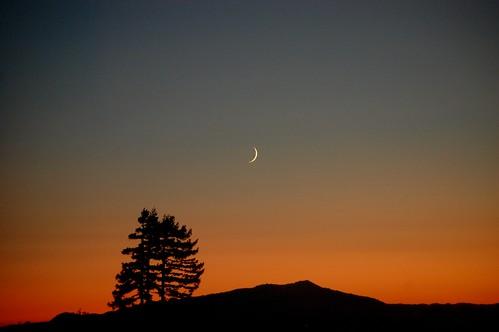 Eid moon over Mt. Tamalpais