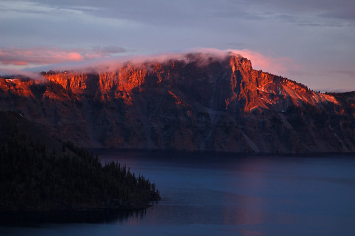 park lake oregon sunrise october national crater craterlake 2011