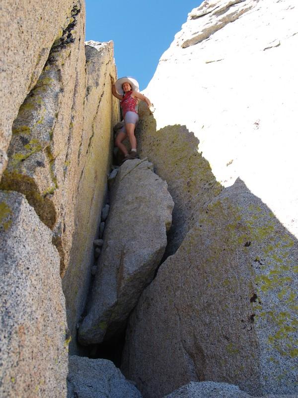 Marion Mountain Summit Block Crack Climb