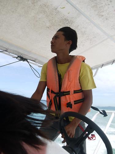 On ferry to Mammutik Island