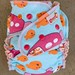 Fish Run One-Size Fitted Diaper