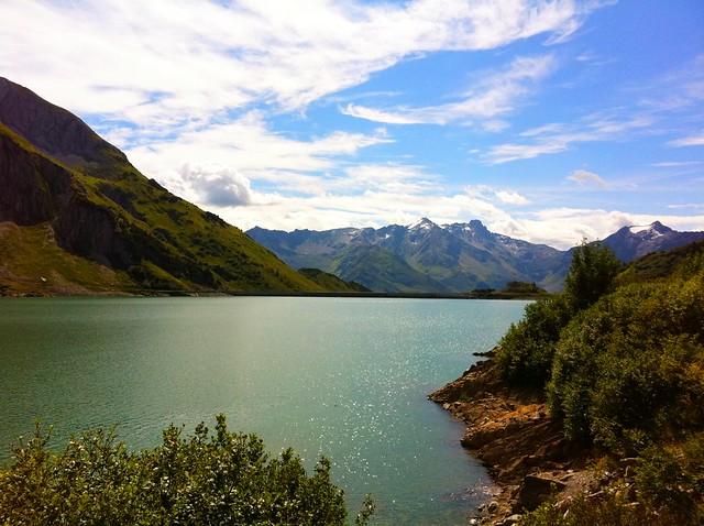 Spullersee lake, Lechquellengebirge range, Vorarlberg