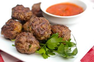 Italian-Style Meatballs with Pecorino and Parmesan