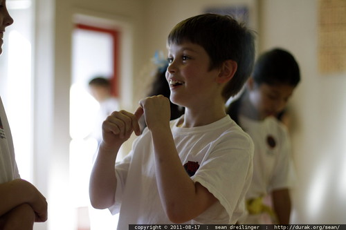 nick at the end of karate class