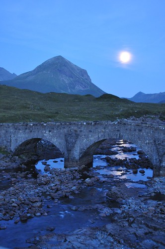 Moonrise from Sligachan, Skye