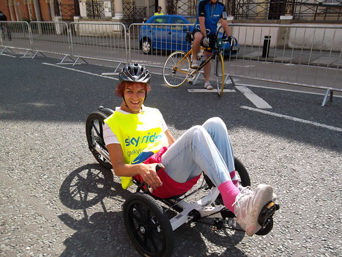 Sky Ride Hull 2011 - Recumbent bicycle outside St Charles