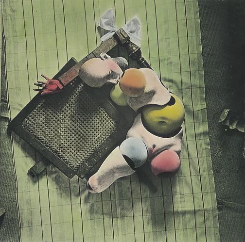 "Hans Bellmer, The Doll, ca. 1934-1935 (published in ""Les Jeux De La Poupee,"" 1949), gelatin silver print with applied color, 13.8 x 14.0 cm. (George Eastman House)"