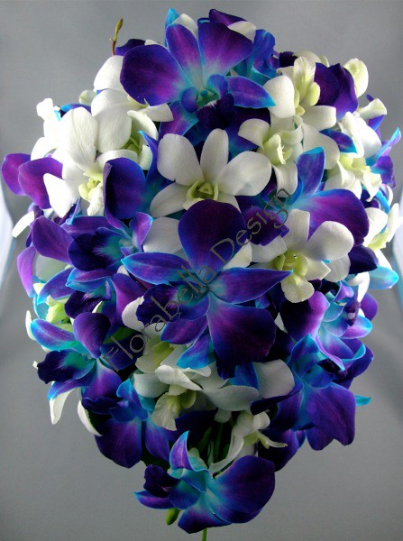 Blue orchid bridal bouquet flickr photo sharing