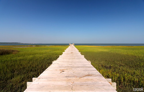 wood blue sky water grass photography wideangle boardwalk atlanticocean capelookoutnationalseashore canon1022mmlens canoneos60d cpcook harkersislandvisitorcenter