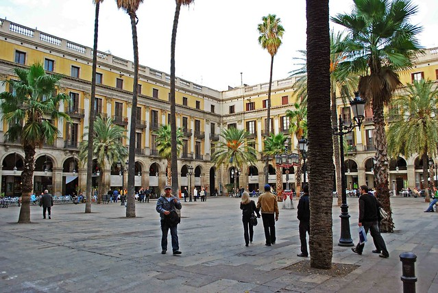 Placa Reial in Gothic Quarter