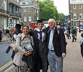 Graduation Day - Sept 2011 - A Rare Family Portrait