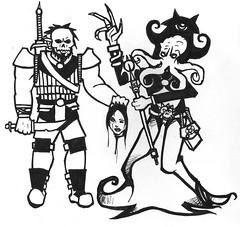 Vaarn (Durago Hobgoblin Warlord) & Sarkt the Mind Flayer
