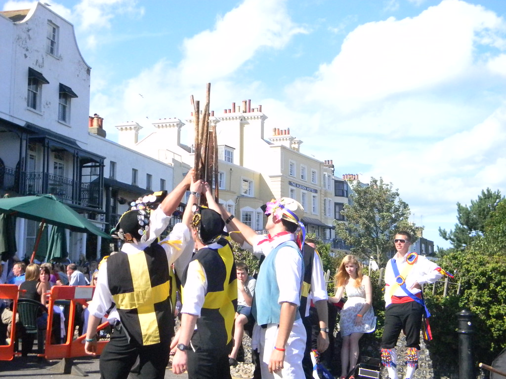 Stick whacking gang Margate to Ramsgate (well Broadstairs anyway)