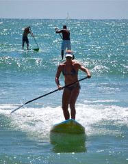 surface water sports, boardsport, water, sports, sea, surfing, ocean, wind wave, wave, vacation, water sport, stand up paddle surfing, surfboard, paddle,