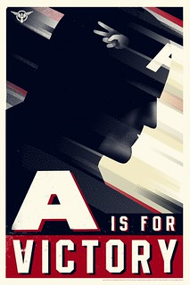 CAPTAIN-AMERICA, A is for Victory - Olly Moss