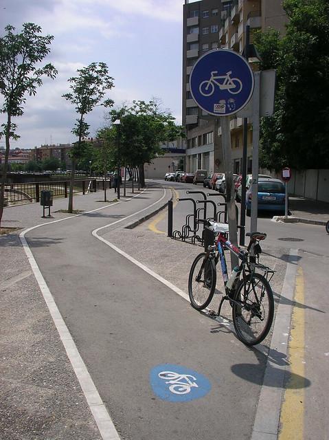 Bike path through Girona