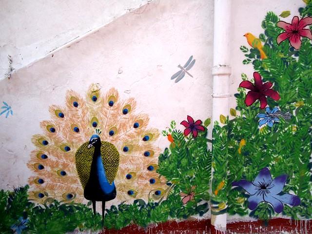 Jardines pintados en los muros for Jardin en muro