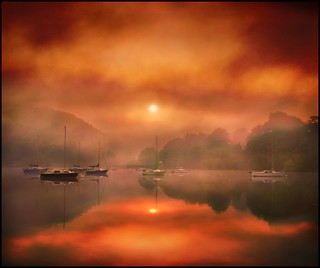 Fiery sunrise on Ullswater