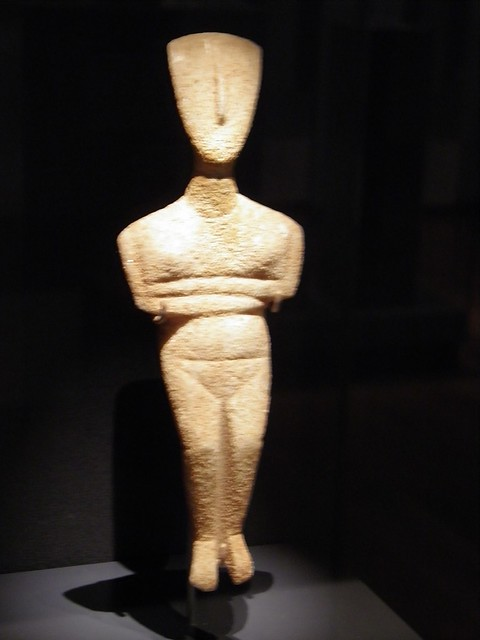 Cycladic Figurine from Amorgos, Ashmolean Museum