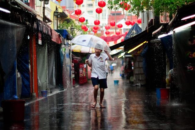 Raining in Singapore
