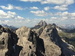 Ausblick Rotwandspitze auf die Drei Zinnen