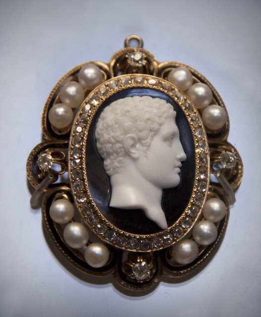 Head of Hercules, onyx cameo, Italian, late 18- early 19th
