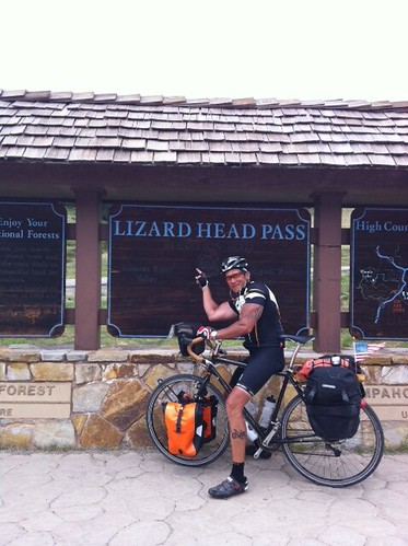 <p>Gunnar owner Shawe took his Pearl in Black 58cm Grand Tour from California to Colorado Springs, shown here celebrating at the top of t 10,200 foot Lizard Head pass in southwest Colorado.  61249</p>