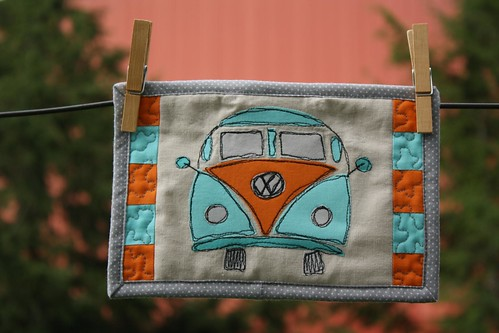 free motion applique VW bus