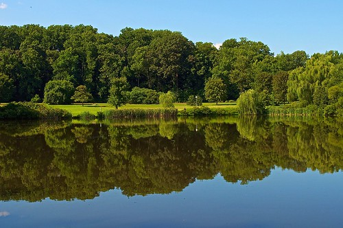 statepark park blue summer sky lake reflection green water grass clouds fishing pond nikon state delaware wilmington bellevue delawareonline d5000 stateofdelaware