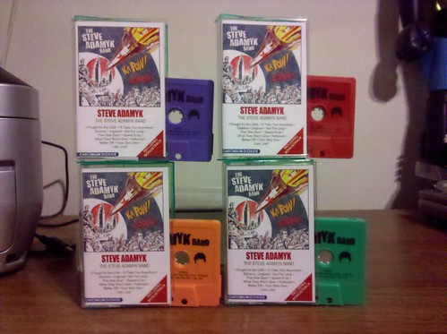 Steve Adamyk Band - S/T Cassette - 4 Colors /25 each