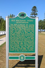 Old Mackinac Point Lighthouse Historic Marker