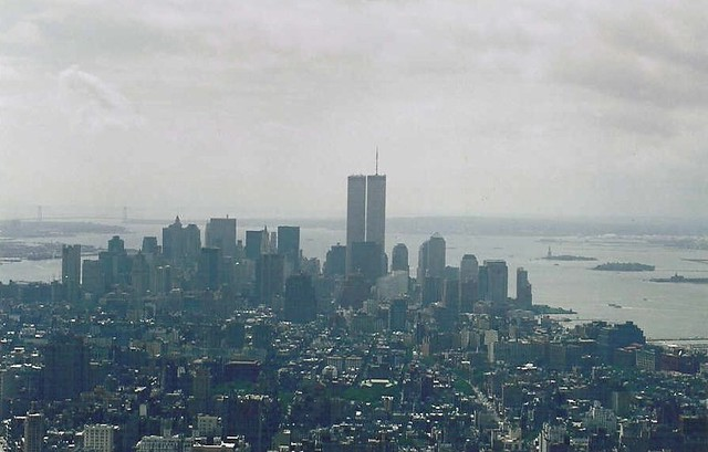 World Trade Center from Empire State Building: Sept 10, 2001
