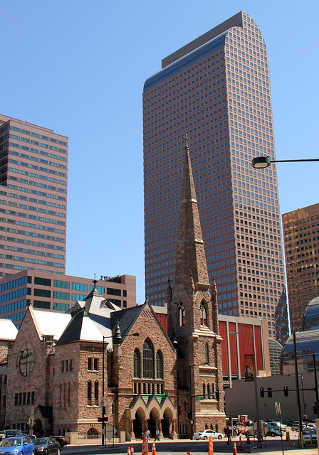 Downtown Denver Church and Skyscrapers | Trinity United ...
