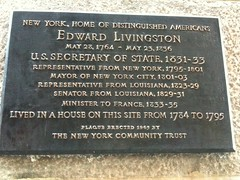 Photo of Edward Livingston black plaque