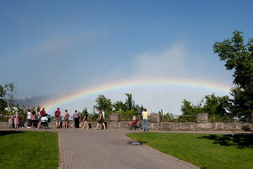 Rainbow from Queen Victoria Park, Niagara