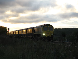 Freightliner 66548  Coal Train at dusk.