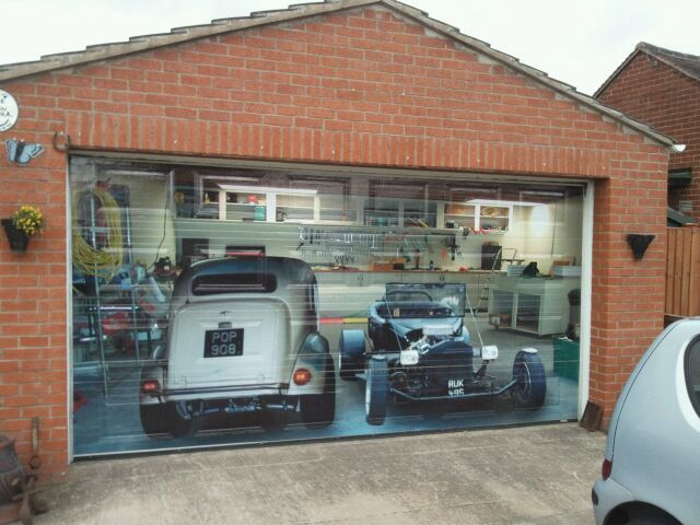 Garage Door Wrap Artwork By Poppy Signs Explore Poppy