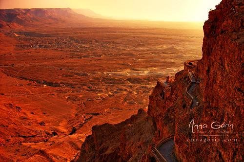 Masada and the Negev at dawn