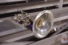 sousaphone(0.0), wheel(0.0), trombone(0.0), euphonium(0.0), lighting(0.0), trumpet(1.0), brass instrument(1.0), wind instrument(1.0),