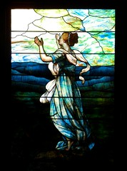 'Hope' - details of a window created by Louis Comfort Tiffany