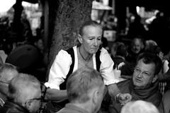 A waitress on Viktualienmarkt in München