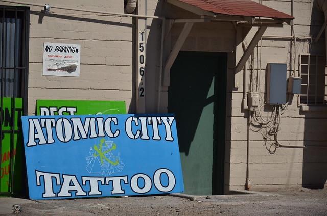 Atom Tattoo Las Vegas Tattoo Sign Atomic