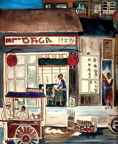 MOTOMACHI STREET SCENE 1962, By Robert L.Huffstutter by roberthuffstutter