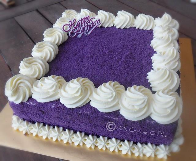 Square ube macapuno cake | Flickr - Photo Sharing!
