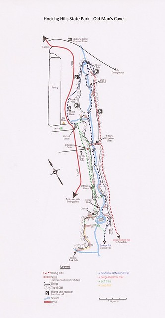 Classic Man Cave Map : Old man s cave trail map flickr photo sharing