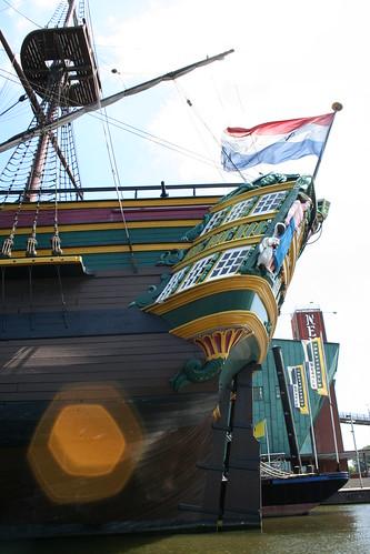 2010.07.14 Amsterdam 04 Blue Boat City Canal Cruise 114 Replica van de Amsterdam