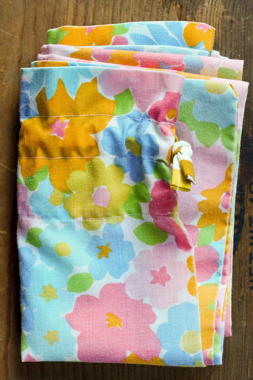 Vintage Pillowcase Laundry Bag